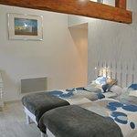 chambre double avec  2 lits