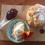 Our delicious scone with Beerenberg strawberry jam and double thick cream