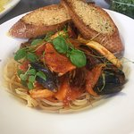 Sea food linguine