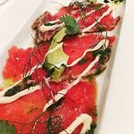 Tuna carpaccio (Faultless!)