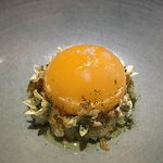 Duck egg on risotto