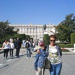 Plaza de Oriente with the statue of King Felipe IV.
