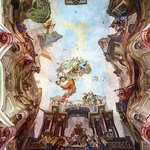 Amazing fresco on the ceiling of Apotheosis of St. Nicholas