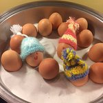 Free breakfast - egg hats!