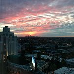 Stunning sunrise from the 11th floor at the Andaz West Hollywood