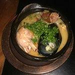 Paella , ceviches y sopa marinera