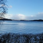 March 16th around 16:45 view from our room over Loch Lomond