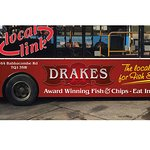 Drakes Sponsored Bus along Route 65 in Torquay