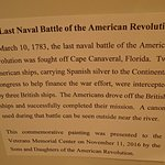 Last naval battle of the revolution fought off the coast here