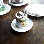 Вот так подают молоко для кофе в ресторане
