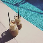 Coffee by the pool
