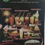 this is the main menu of Toko Oen Malang
