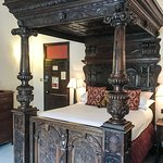Our hand carved four poster dated from 1657!! It was so high I had to use the step provided!