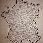 Carte de France avec les déportés