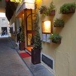 Restaurant down alleyway