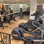 Workout room open 24 hours.