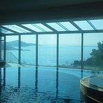 Infinity pool and hot tub overlooking the Adriatic Sea