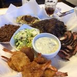 Gray Whale BBQ - combo plate for two
