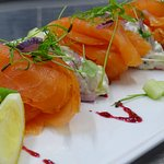 Our Creelers Smoked Salmon dish