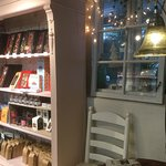 What a lovely, enchanted little cafe/ chocolatiers with chocolate from Belgium & friendly, brill