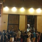 The queue at the entrance.