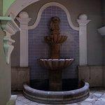 Ground level fountain.