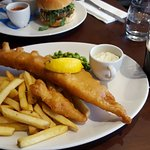 Beer battered Haddock and chips