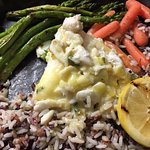Pineda Seabass w/ Crab Oscar topping
