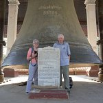 You can see how large the bell is!