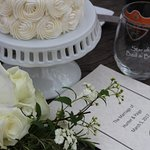 Personal elopement cake for wedding