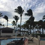 By the pool at the Caribe Hilton