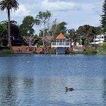 the beautiful small Lake