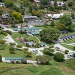 Aerial view of the Park and Waitomo Village