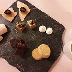 Petit fours as an accompaniment to the coffee