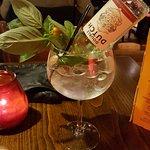 Gin and Tonic (Pomegranate and Basil Mix)
