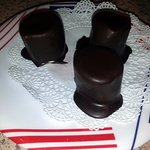 chocolate covered marshmallows for dessert
