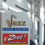 sign for Cafe Zoot in the Jazz Food Court on Concourse C