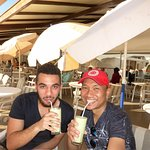 Me and my friend Anas (who lives and studies in Agadir) sampling refreshing avocafdo juice