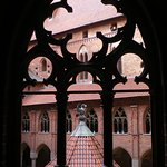 Artistic shot of the tower coutyard at Malbork Castle
