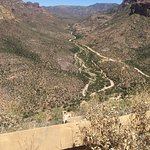 Windy road along the Apache Trail