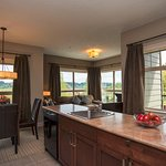 Rivers Edge Two Bedroom Suite Kitchen and Dining Room