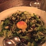 Broccoli salad with raw egg