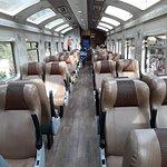 Inside the Vista Dome train
