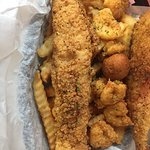 Great Catfish and shrimp basket