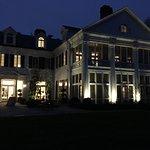 Back of Duke Mansion at night