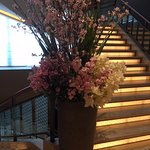 Staircase flower arrangement