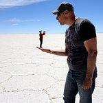 This is us in the Uyuni Salt Flats, Bolivia