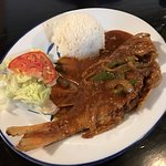 Snapper in Creole Sauce (Deep fried then steamed)