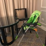 High chair provided by the hotel.
