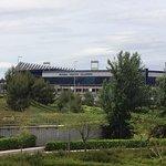 Estadio Vicente Calderon in the Background